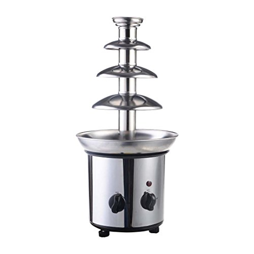 4 Tiers Commercial Stainless Steel Hot New Luxury Chocolate Fondue Fountain -max capacity 2Lbs
