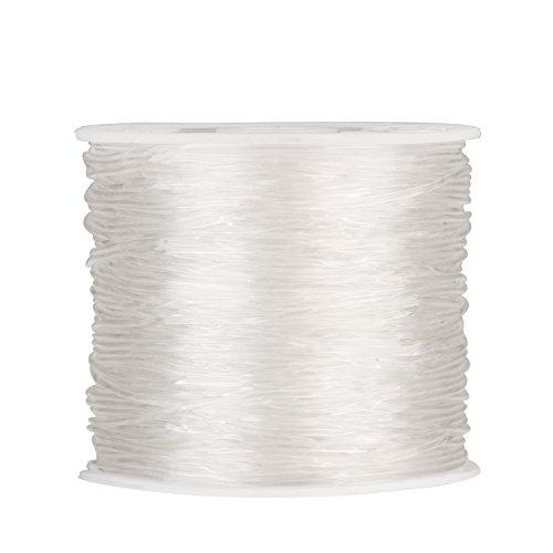 Outus 1 mm Filo Elastico Stretch di Perline Filetto Craft Fabbricazione di Gioielli Bracciale, 30m, Trasparente