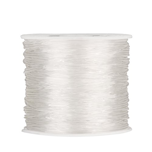 1 mm Elastic Stretch Beading Thread Craft Jewelry Bracelet Making Cord String, 30 m, Clear
