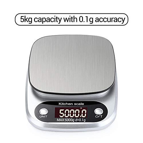 Lebensmittelwaage 10 Kg * 1 G Tragbare Digitalwaage Mini-Digital-Küchenwaage Professional Präzise Elektronische Waage Präzisionswaage 5 Kg 0,1 G