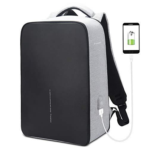 Fresion Laptoprugzak, 24 liter, voor werk, mannen en dames, waterdichte ritssluiting + 2.0 USB-poort, schokbestendig + maximale belasting 25 kg