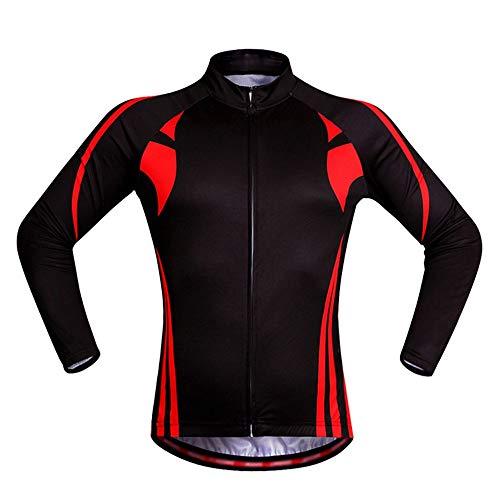 Lisansang Maillot de ciclismo de manga larga Top de Ciclismo Jersey Transpirable de secado rápido MTB Ropa de ciclismo de carretera reflectante de manga corta, 3 bolsillos para ciclismo y correr, entrenamiento de gimnasio, color negro, tamaño XX-Large
