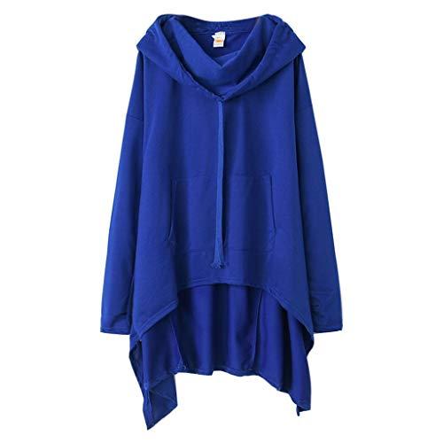Komise Frauen beiläufige Normallack-mit Kapuze Sweatshirt-Pullover-Bluse übersteigt Jacken-Mantel