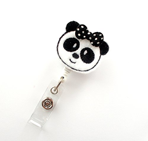 Pammy The Panda Bear - Retractable Id Badge Reel - Name Badge Holder - Cute Badge Reel - Nurse Badge Holder - Nursing Badge - Teacher Badge Photo #2