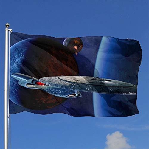 Star Trek Flagge, 91 x 152 cm, dekorativ, langlebig, für den Garten und den Innenbereich, Heimdekoration
