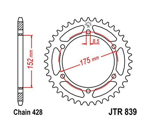 Compatible con 125 TDR/DTR/WR 125 R/X- Corona 53 dientes de acero JTR839.53.