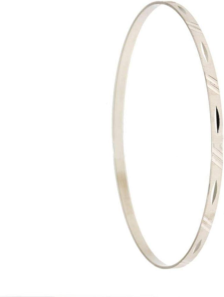Gioielleria momenti preziosi bracciale da donna  rigido in oro 18kt 750/1000(5gr) sfaccettato e rigato 21718907-B
