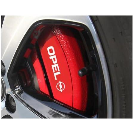 Myrockshirt Opelaufkleber Hi 4 X Bremsenaufkleber Bremsen Aufkleber Bremssattel Hitzebeständigdecals Stickers Cast Vinyl Astra Corsa Opc Auto