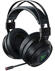 Razer Nari Ultimate Wireless 7.1 Surround Sound Gaming Headset: THX Audio & Haptic Auto-Adjust Headband - Chroma RGB - Retractable Mic - for PC, PS4 - Classic Black