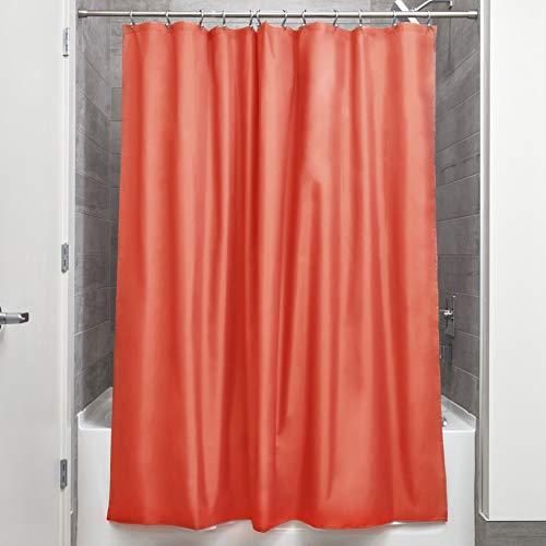 InterDesign - Liner - Revestimiento impermeable y anti hongos de cortina para ducha, 180 x 180 cm, Naranja
