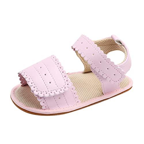 YWLINK Sandalias Verano Bebé NiñAs NiñOs Zapatos Cuero Suave De Primeros Pasos Bebé Ninos Calzado Playa Antideslizante Puntera Cerrada,Zapatos De Malla Transpirable,Zapatos Brillantes