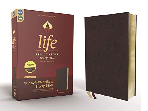 Compare Textbook Prices for NIV, Life Application Study Bible, Third Edition, Bonded Leather, Burgundy, Red Letter Edition 3 Edition ISBN 0025986452759 by Zondervan