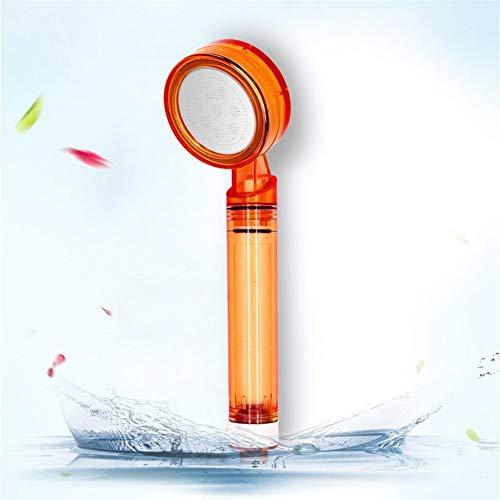 Ducha de Mano del Filtro purificador de Agua a presión hogar termostato Cabezas de Ducha de baño Deslizador Ajustable (Color : Orange Orange)