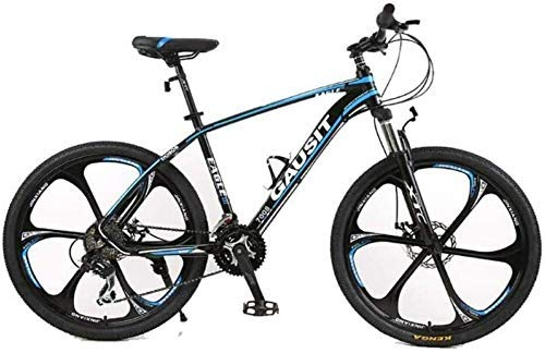 YUHT Mountain Bike,Mountain Bike 30 Velocità 26' 6 razze telaio in alluminio Bicicletta City Commuter Bicicletta perfetta per strada o fuoristrada Touring, Blu, 30 Speed