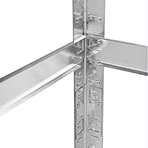 COSTWAY Reifenregal Reifenständer Werkstattregal Lagerregal Schwerlastregal Felgenregal Steckregal Reifen Regal Aufbewahrung Metall 3 Ebenen höhenverstellbar verzinkt 180x120x40cm - 6