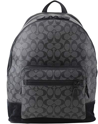 COACH F36137 WEST BACKPACK IN SIGNATURE CANVAS BLACK