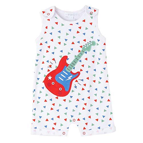 Amomí Pijama Bebe Niño Pelele bebé Manga Corta 3-24Meses 100% algodón (12 Meses, Guitarra)