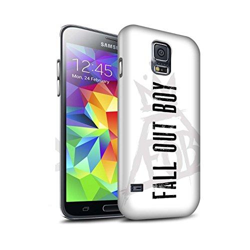 Offiziell Fall Out Boy Hülle / Matte Snap-On Case für Samsung Galaxy S5 Neo/G903 / Pyramide/Weiß Muster / FOB Band Logo Kollektion