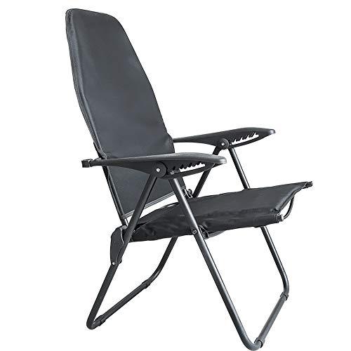 FUFU Sillones reclinables plegables para el patio, silla ajustable para la siesta, para el almuerzo, para la siesta, para el balcón, para la playa, casual, portátil, duradera