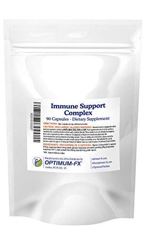 Immune Support Complex - Vitamine C (Ascorbinezuur), Kurkuma, Magnesiummengsel (Citraat, Glycinaat, Bisglycinaat en Malaat), Inuline Prebiotische Vezels, Bioperine 90 Capsules
