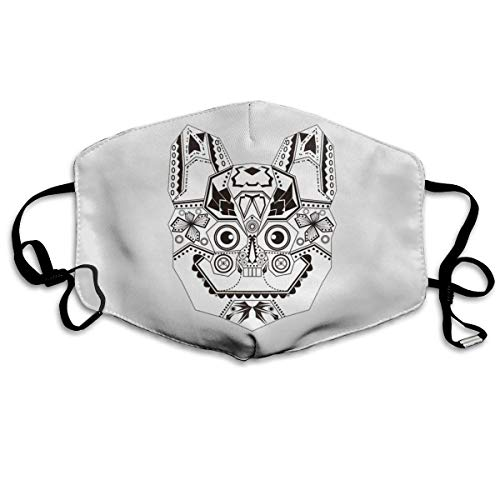 QYGA-3BU Pasamontañas de boca personalizado Emblema de tigre Pasamont