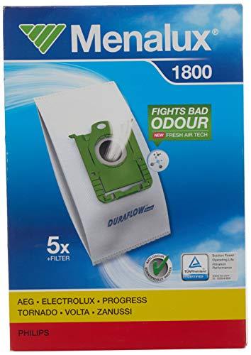 Menalux 1800 - Pack de 5 bolsas sintéticas y 1 filtro para