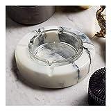 Cenicero creativo de cenicero cenicero de cigarrillo, mesa de mármol para uso en el interior o en el exterior Decoración de la oficina en el hogar, regalo de cenicero de vidrio de vidrio desmontable (
