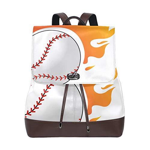DEZIRO Flame Baseball Schulranzen Rucksack