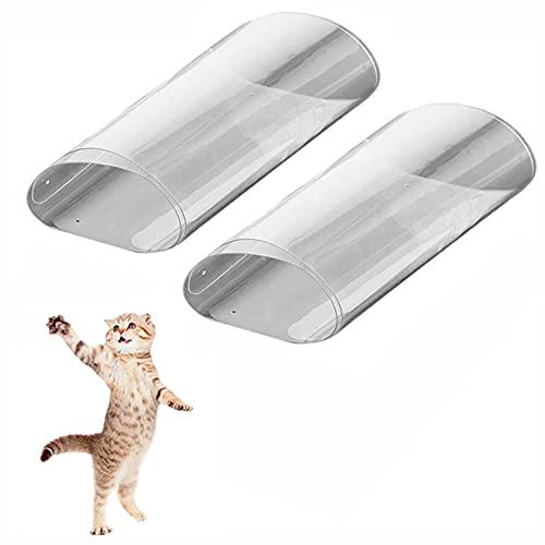 2 protectores transparentes autoadhesivos, protectores para muebles de gatos