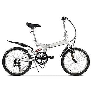 41UbfTzloHL. SS300 Bicicletta Pieghevole da 20 Pollici, Bici Pieghevole Adulto Unisex Urbano City Bike Donna, Regolabile Manubrio E Sella Comoda, Freni a Disco, Bicicletta Pieghevole in Città