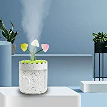 Household Appliances Lavender Landscape LED Humidifier (Pink) Household Appliances (Color : White)