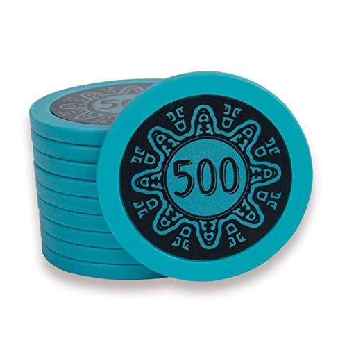 CHIPS 100 Fichas de Póker de Póker de Póker, Fichas de Póquer Texas Clay 14g para el Juego de Blackjack Texas Holdem - Fichas de Múltiples Denominaciones