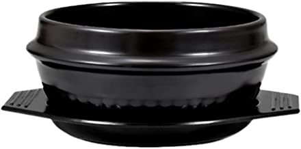 Minkissy Korean Soup Pot, Casserole Ceramic Pot Sizzling Hot Pot for Home Kitchen Restaurant (18 CM)