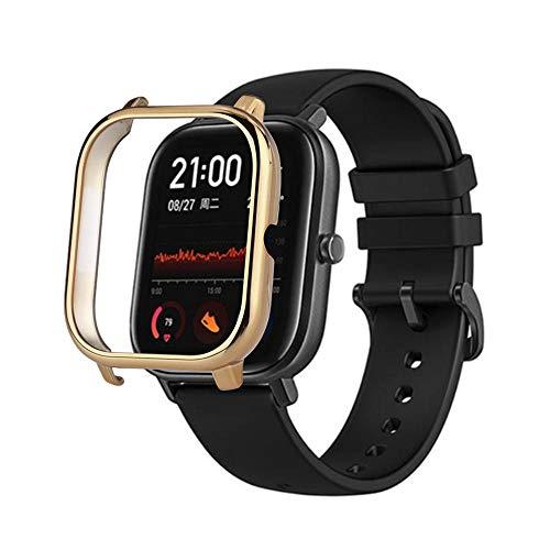 para Xiaomi Huami Amazfit GTS Smart Watch Funda Protectora Anti-Scratch Electroplate PC Case Cover Frame Protector Parachoques a Prueba de Golpes para Xiaomi Huami Amazfit GTS Fitness Tracker