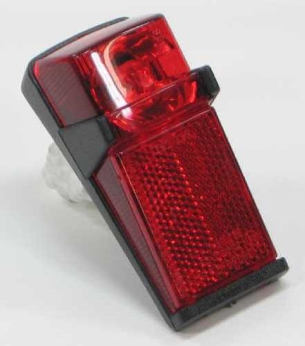 Bumm Fahrrad Rücklicht mit Spiegeloptik und Glühbirne 6V 0,6W für alle Dynamos