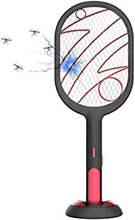 2 in 1 Fly Swatter,Standable Desktop Anti-Mosquito Fly Bug Zapper Racket, Pest Control Safe Touch Handheld Mosquito Killer...