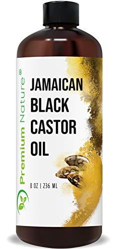 Jamaican Black Castor Oil for Hair Growth- Hair Oil Edge Control Hair Growth Products Beard Growth Oil Natural Hair Products Cold Pressed Caster Oil Organic Pure Jamaican Black Castor Oil 8 oz