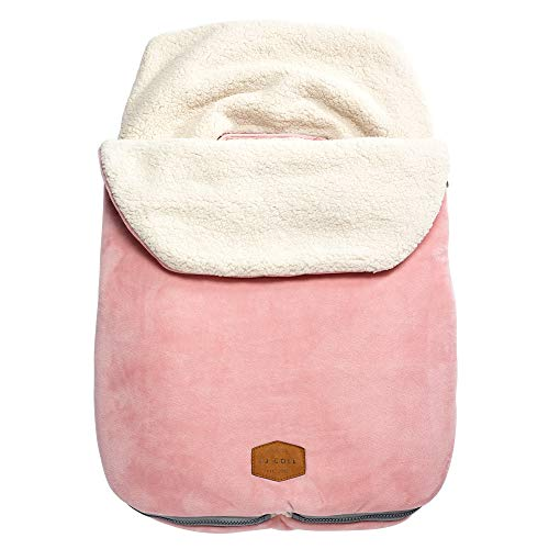 JJ Cole Original Bundleme Canopy Style Bunting Bag, Blush