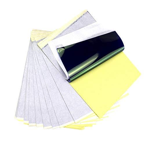 Papier de transfert de tatouage A4 papier de pochoir thermique de tatouage papier de copieur thermique de carbone pour transférer vos dessins sur la peau(10pcs)
