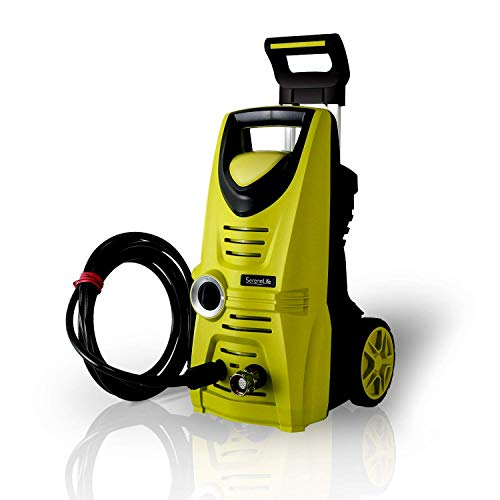 Serenelife Electric Pressure Washer - Powerful Heavy Duty 1520PSI Manual Adjustable High Low Cold...