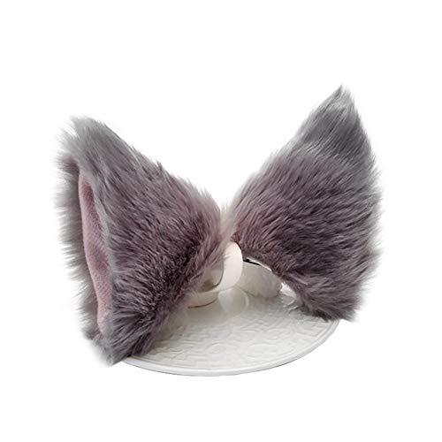 Outtybrave Süßes, handgefertigtes Cosplay-Kostüm für Damen, Haarschmuck, Accessoires, Plüsch-Katzenohren, Haarnadel, Haarreif
