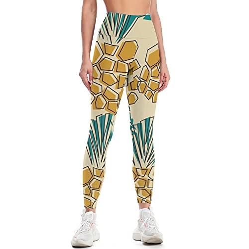 Pantalones de Yoga de Arte de Moda para Mujer, Cintura Alta, Levantamiento de Cadera, Medias para Celulitis, Entrenamiento físico al Aire Libre, Pantalones para Correr N S