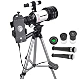 Starboosa Telescope for Kids Beginners 70mm Aperture 300mm with Adjustable Tripod & Smartphone Adapter - Gift for Kids and Beginners