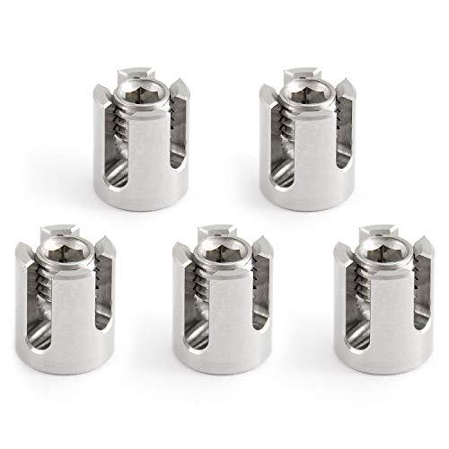 GARDELI® Kreuzklemme 5 Stück aus Edelstahl (A4) für 3mm Seil Drahlseilklemme Seilklemme Klemme M8 V4A 316