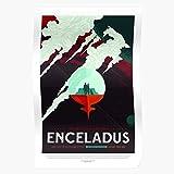 Moon Nasa Scifi Postcrossing Tourism Science Enceladus Travel Fiction Home Decor Wall Art Print Poster !