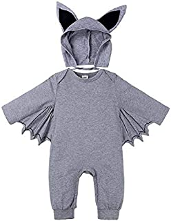WTYD Family Goods Autumn Bat Long Sleeve Jumpsuit Baby Halloween Costume with Hat, Height:70cm, Color:Grey