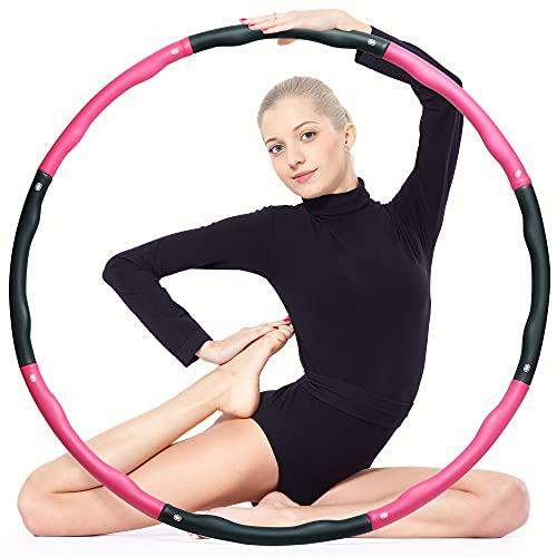 ear&ear Hula Hoop per adulti e bambini, 6-8 pezzi, pneumatici da fitness rimovibili per esercizi di fitness, perdita di peso, modellazione addominale e massaggio
