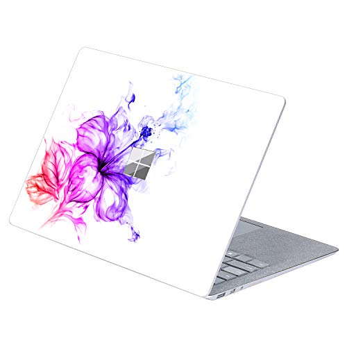 MasiBloom Top Side Laptop Sticker Decal for 13' 13.5 inch Microsoft Surface Laptop 3 & 2 & 1 (2019/18/17 Released) Anti Scratch Protective Skin, Not Compatible with Surface Book (Lily- Multicolor)