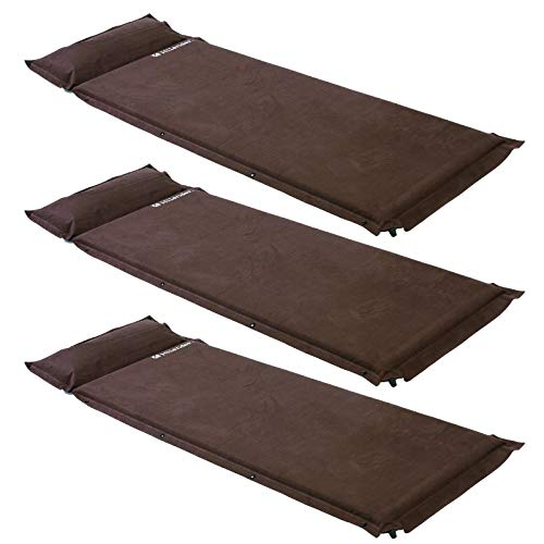 Hilander(ハイランダー) スエードインフレーターマット(枕付きタイプ) 5.0cm【お得な3点セット】 シングル ...