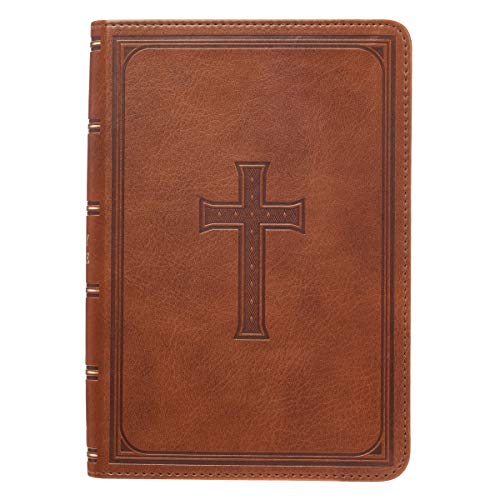 Compare Textbook Prices for KJV Holy Bible, Large Print Compact, Saddle Tan Faux Leather w/Ribbon Marker, Red Letter, King James Version Large type / Large print Edition ISBN 0688941416199 by Christian Art Publishers